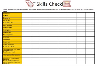ict skills checklist e wot
