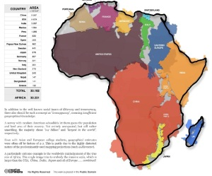 infographic of Africa