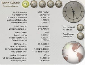 picture of earth clock
