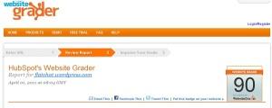 picture of my website grade
