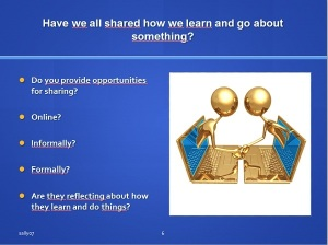 Are we sharing and reflecting?