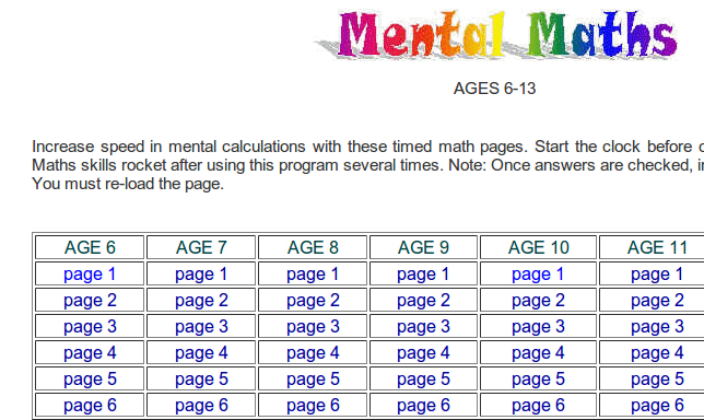 Mental Maths | E-WOT