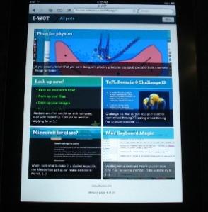 ewot on iPad