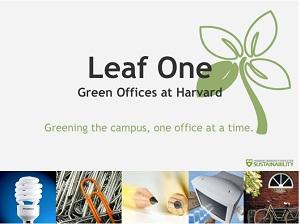 Harvard Education Leaf One