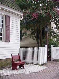 Quiet Bench in Colonial Williamsburg