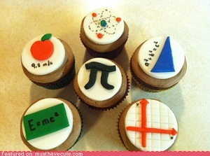 physics and maths cupcakes