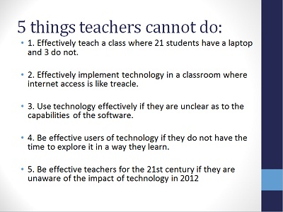 5 things teachers cannot do