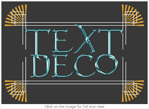 art deco text