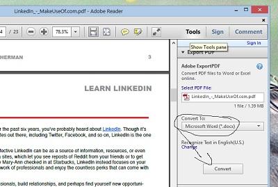 word 2013 convert to pdf