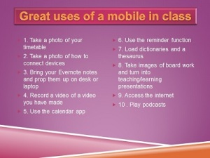 mobile phone use in class