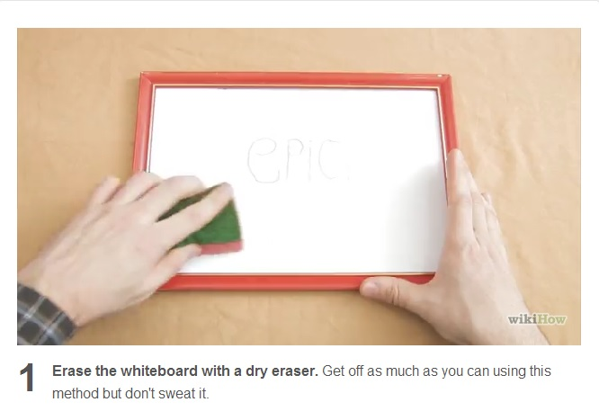 how to clean a whiteboard at home