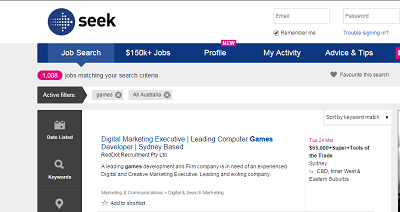 games jobs