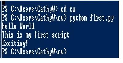 first python script