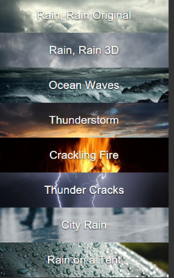 rain, rain app
