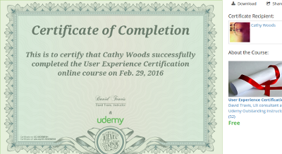 UX Certificate