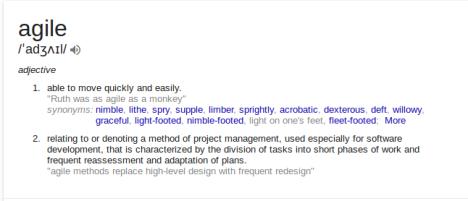 agile - definition