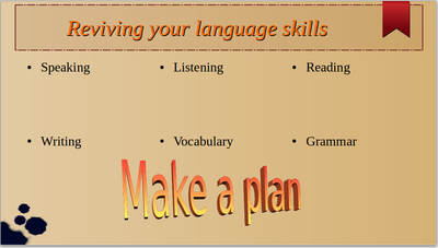 Reviving language skills