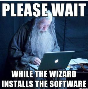 wizard installs software