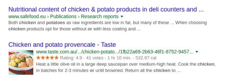 chicken vs potato