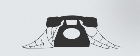 Phone with cobwebs
