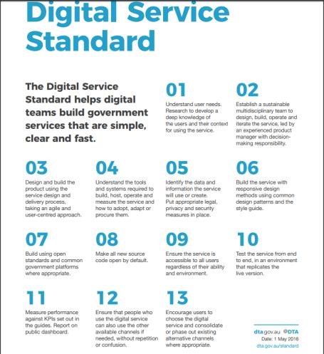 Digital Service Standard